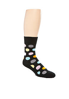 Happy Socks® Cotton Big Dot Crew Socks - Single Pair