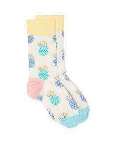 Happy Socks® Pineapple Crew Socks - Single Pack