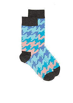 Happy Socks® Dogtooth Patterned Crew Socks - 2 Pack