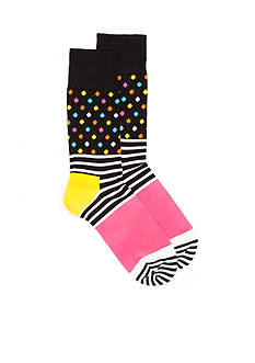 Happy Socks® Stripes and Dots Crew Socks - Single Pair