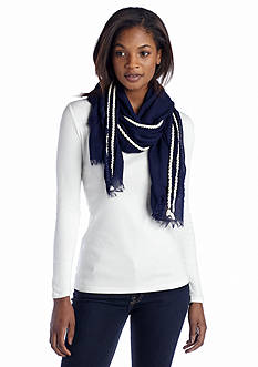 Vince Camuto Rope Trim Scarf