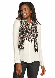 BCBGeneration Wild Flower Tassel Wrap