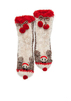 New Directions® Sock Monkey Slippers - Single Pair