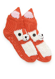 New Directions® Hand Crafted Fox Slippers - Single Pair