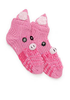 New Directions® Hand Crafted Pig Slippers - Single Pair