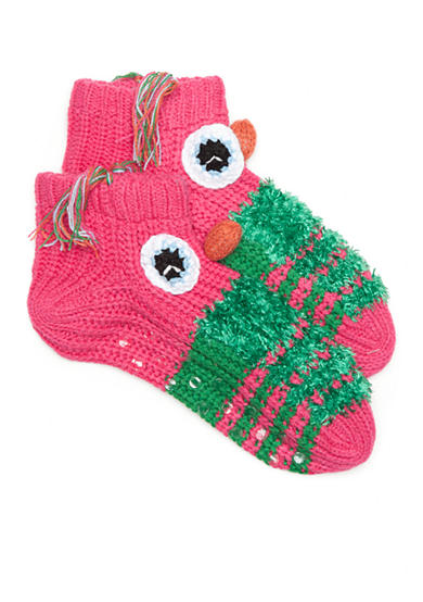 New Directions® Hand Knit Barnyard Slipper Socks - Single Pair