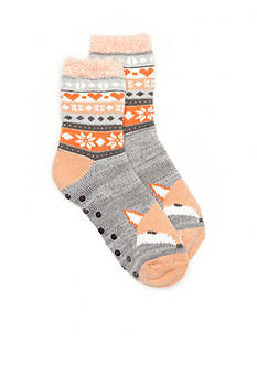 New Directions® Critter Fair Isle Duo Layer Slipper Socks- Single Pair