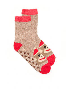 New Directions® Sock Monkey Duo Layer Slipper Socks - Single Pair