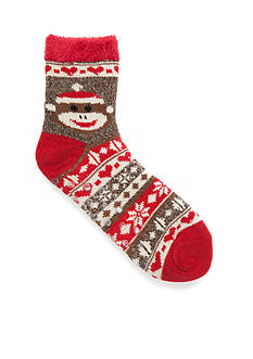 New Directions® Sock Monkey Duo Layer Slippers - Single Pair