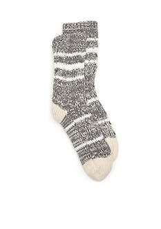 New Directions® Hand Knit Varsity Sweater Cuff Slipper Socks - Single Pair