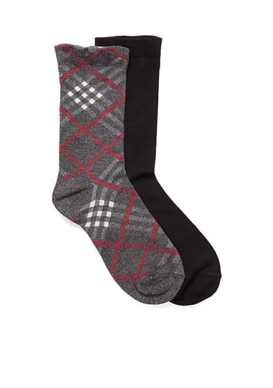 New Directions® Plaid Crew Socks - 2 Pack