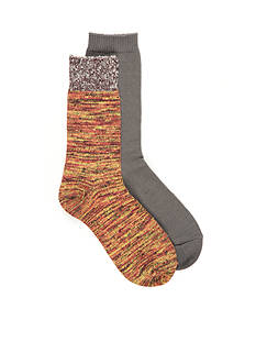 New Directions® Space Dye Crew Boot Socks - 2 Pack