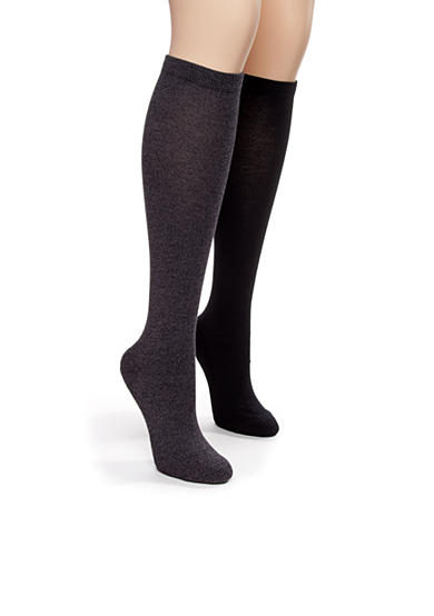 Kim Rogers® Bamboo Knee High Two Pair Pack of Socks