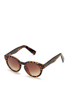 New Directions® Plastic Chunky Round Tortoise Sunglasses