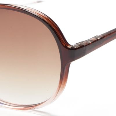 Juniors Accessories: Sunglasses: Brown/Pink New Directions Plastic Round Ombre Beach Sunglasses
