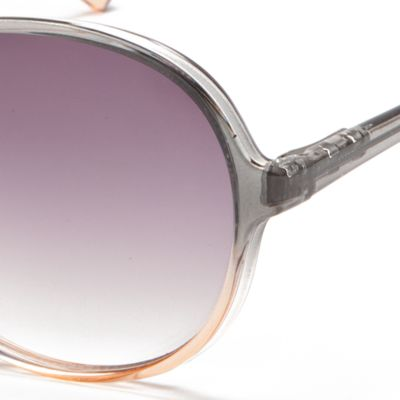 Juniors Accessories: Sunglasses: Pink/Gray New Directions Plastic Round Ombre Beach Sunglasses