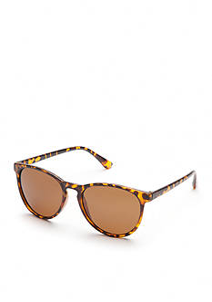 New Directions Round Tortoise Polarized Sunglasses