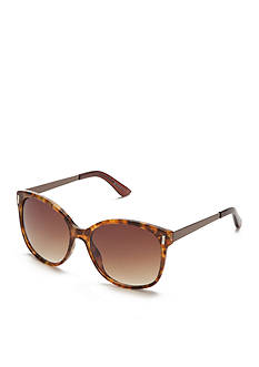New Directions Plastic Tortoise Cat Eye Sunglasses