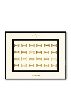 kate spade new york® Gold Bow Push Pins