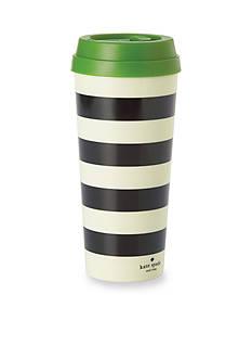 kate spade new york® Black Stripe Thermal Mug