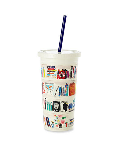 kate spade new york® Bella Bookshelf Insulated Tumbler with Straw