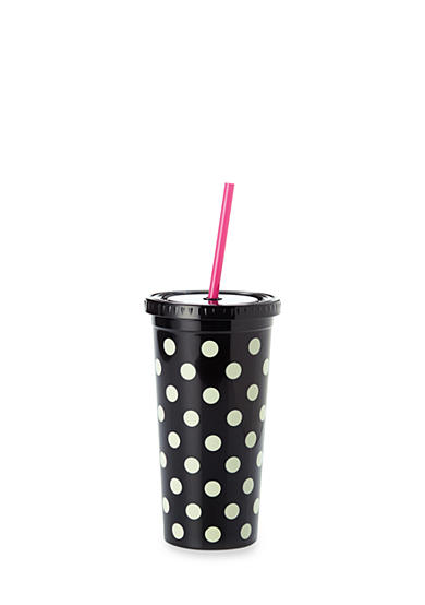 kate spade new york® Black Deco Dots Tumbler, 20 oz.