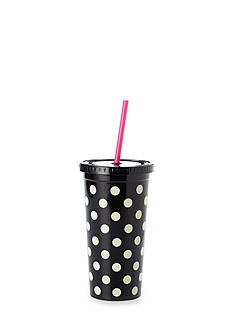 kate spade new york Black Deco Dots Tumbler, 20 oz.