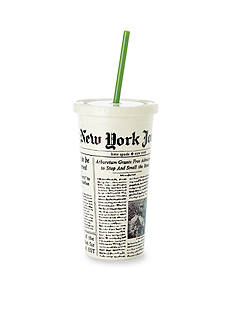 kate spade new york® Newsprint Insulated Tumbler with Straw
