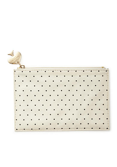 kate spade new york® Polka Dot Pencil Pouch With Bridge Pencils