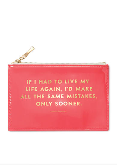 kate spade new york® Pencil Pouch, Same Mistakes