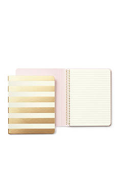 kate spade new york® Gold Stripe Concealed Spiral Notebook