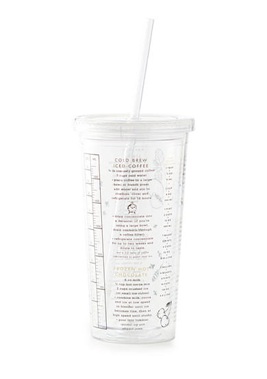 kate spade new york® Recipe Insulated Tumbler With Straw