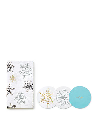 kate spade new york® Snowflake and Napkin Set