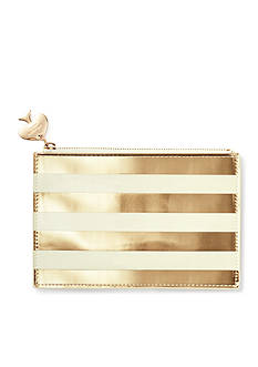 kate spade new york® Gold Stripe Pencil Pouch With Bridge Pencils