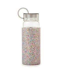 kate spade new york Glass Water Bottle, Multi Glitter