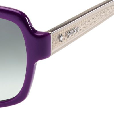 Fossil Accessories: Purple Gradient Fossil Large Oval Sunglasses