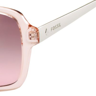 Handbags & Accessories: Fossil Accessories: Rose Mirror Gradient Fossil Oval Combo Sunglasses