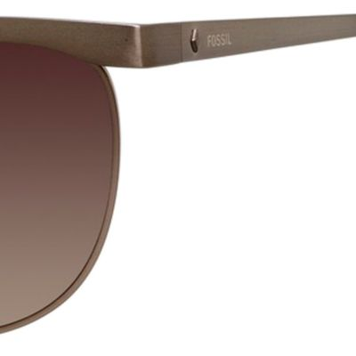 Handbags & Accessories: Fossil Accessories: Brown Gradient Fossil Aviator Sunglasses
