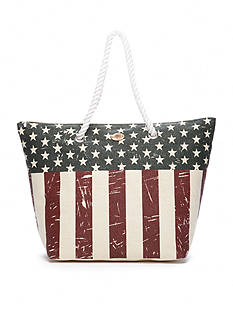 Kim Rogers® American Flag Beach Tote Bag