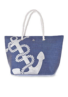 Kim Rogers Rope Handle Anchor Tote
