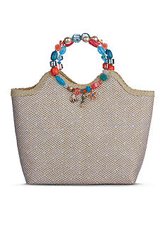 Kim Rogers Jeweled Ring Bag With Sea Charms Satchel