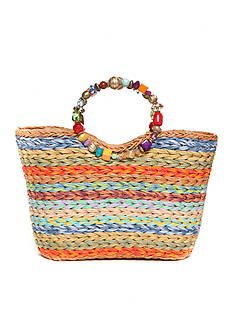 Kim Rogers® Beaded Striped Ring Tote