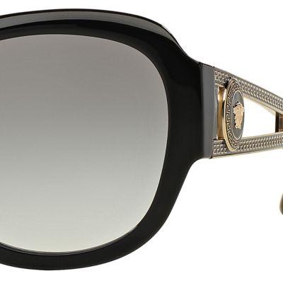 Square Sunglasses: Black Versace Vintage Vanitas Square Sunglasses