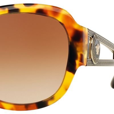 Square Sunglasses: Havana Versace Vintage Vanitas Square Sunglasses