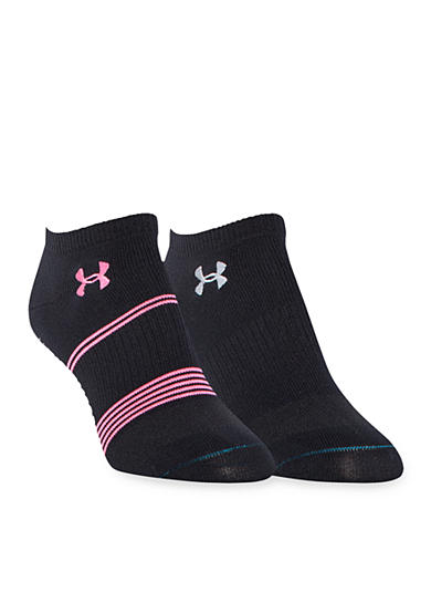 Under Armour® Grippy III No Show Sock 2-Pack