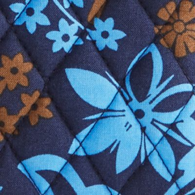 Handbags and Wallets: Java Floral Vera Bradley Signature Turn-Lock Wallet