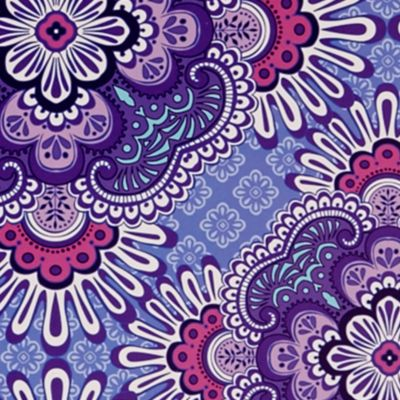 gift accessories for petites: Lilac Tapestry Vera Bradley File Folders