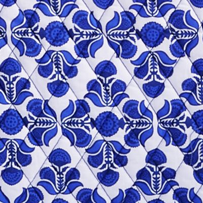 Handbags and Wallets: Cobalt Tile Vera Bradley Signature Vera 2.0 Tote