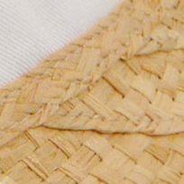 Handbags & Accessories: Karen Kane Accessories: Natural/White Karen Kane Raffia Visor