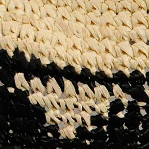 Handbags & Accessories: Karen Kane Accessories: Ivory/Black Karen Kane Raffia Aztec Trillby Hat